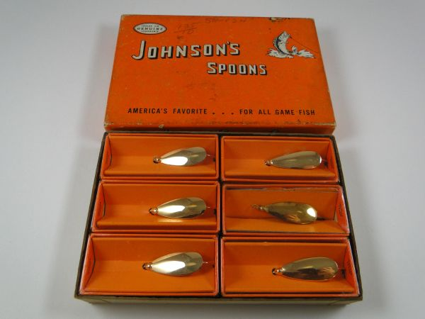 Johnson Silver Minnow GOLD 6 PACK DEALER BOX!!! ALL New in Boxes!