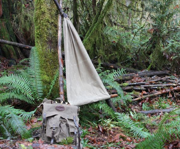 PNW Bushcraft Waxed Canvas Ground Cloth / Hammock Chair