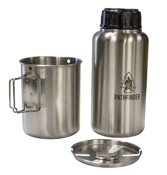 Pathfinder GEN3 Stainless Steel 32 oz. Bottle and Nesting Cup Cook Set