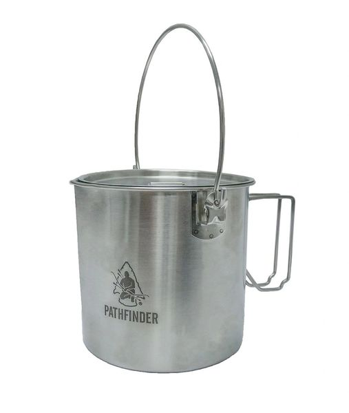 Stainless Steel Bush Pot & Lid Set - 64oz