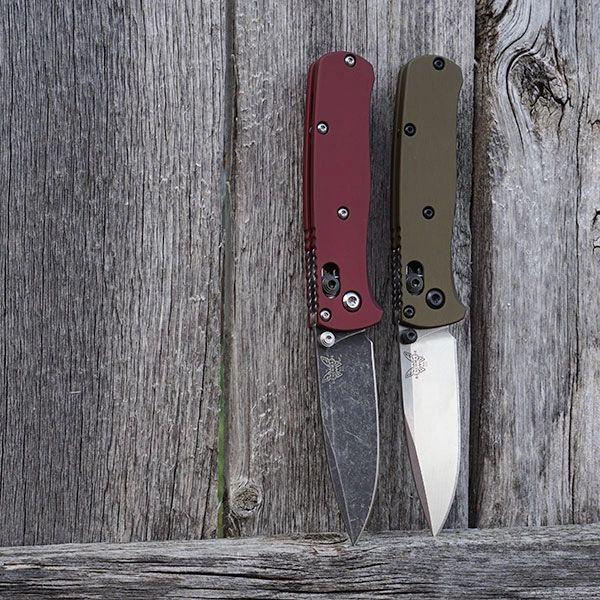 Benchmade Mini Bugout Scales - NO Lanyard - Type III Hard Coat - RH Carry