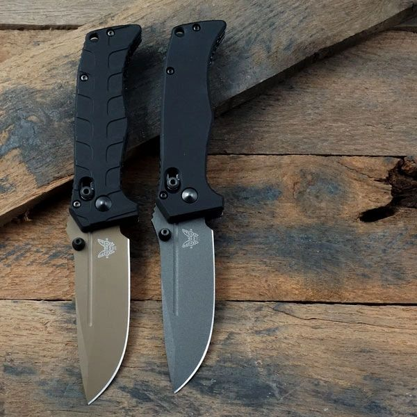 Benchmade Mini Adamas Replacement Scales – Smooth or Rib Cage Surface – Type III Hard Coat