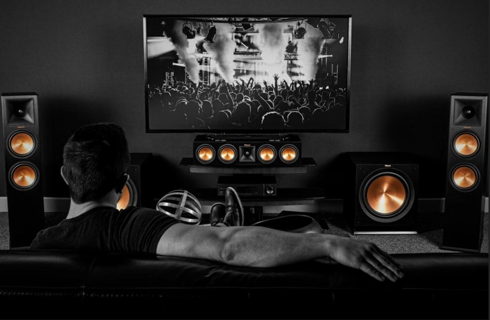 Home Theater with Klipsch Surround Sound System