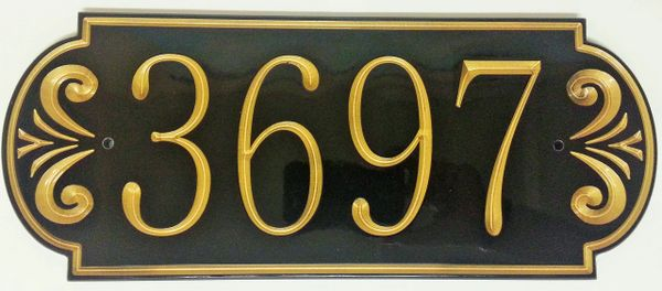 Address Plaque 7x16 CORIAN Horizontal Fountain