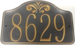 Address Plaque 7 X 10 CORIAN FOUNTAIN