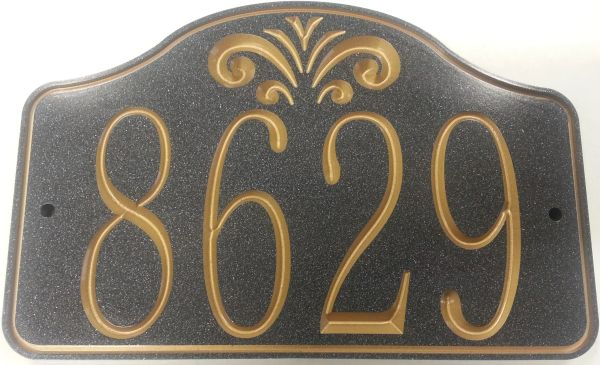 Address Plaque 7 X 10 CORIAN FOUNTAIN