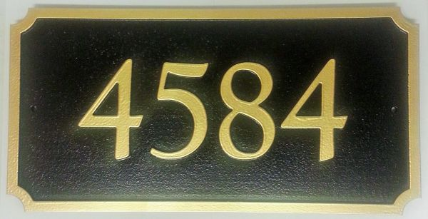 Address Plaque 8 X 16 PVC RECTANGLE