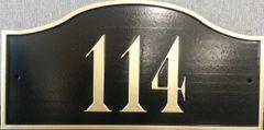 Address Plaque 7.5X15 PVC PALENCIA