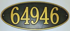Address Plaque 8X17 PVC LARGE OVAL