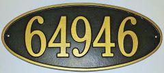 Address Plaque 8X17 PVC LARGE OVAL