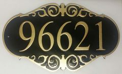 Address Plaque 9 X 16 PVC ORNATE