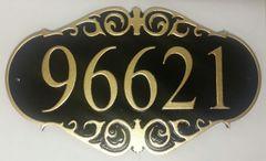 Address Plaque 9 X 16 PVC ORNATE