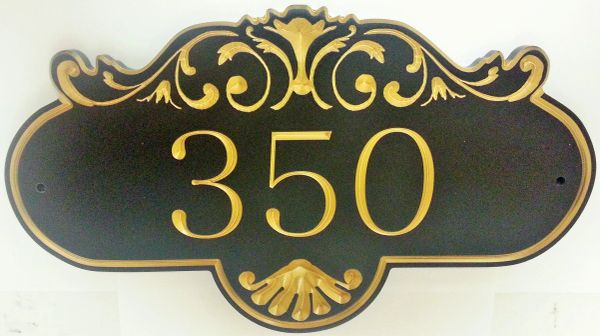 Address Plaque 9 X 15 CORIAN ROCHELLE