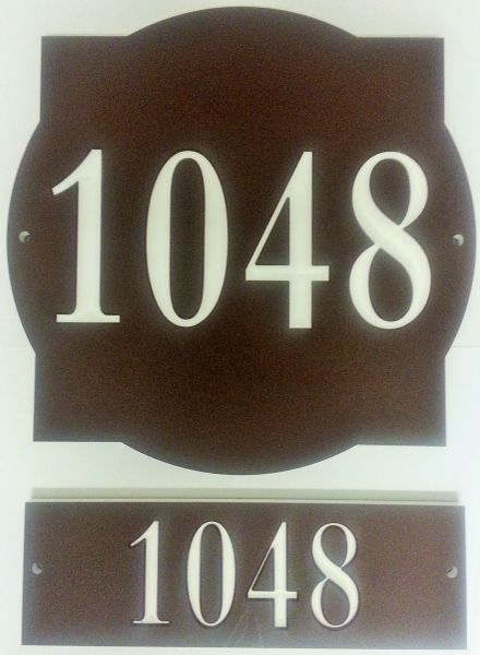 Address Plaque COLOR CORE FRONT & BACK UNIT #