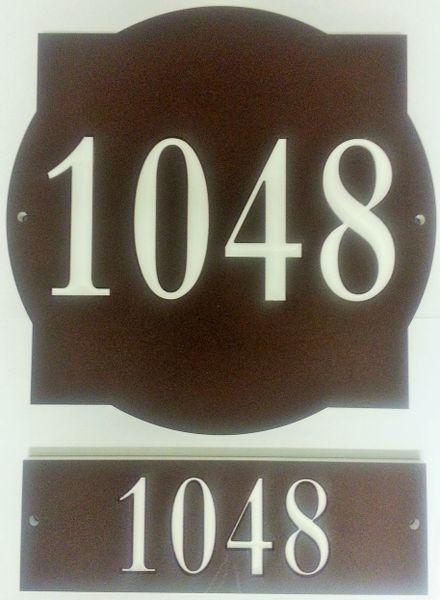 Address Plaque COLOR CORE FRONT & BACK UNIT #
