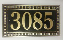 Address Plaque 6X12 PVC DECO