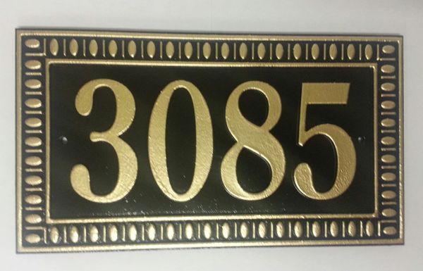 Address Plaque 6X12 PVC DECO