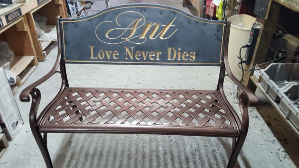 Custom Bench Sign
