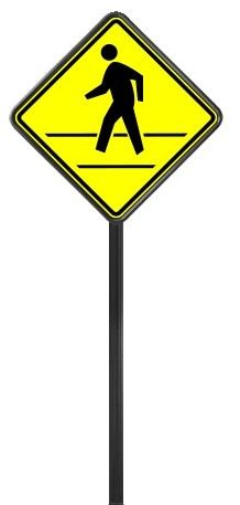 STREET SIGNS-(00) 30X30 CROSSWALK