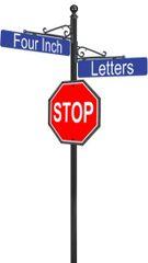 STREET SIGNS-(10) ARCANE DBL STREET W-30X30 STOP