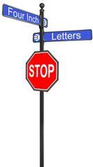 STREET SIGNS-(10) DBL STREET LOGO W-30X30 STOP