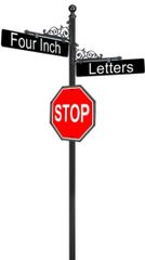 STREET SIGNS-(10)FLORA 10 DBL STREET 30X30 STOP