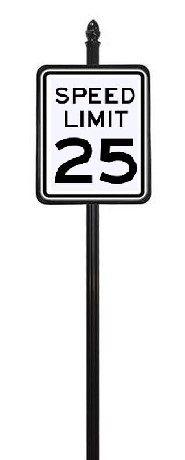 STREET SIGNS-(30) 24X30 25MPH