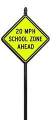 STREET SIGNS-(30) 30X30 SCHOOL ZONE AHEAD