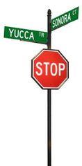 STREET SIGNS-(30)DBL STREET W-30X30 STOP