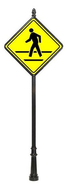 STREET SIGNS-(31) 30X30 PED-CROSSING