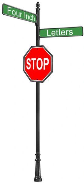 STREET SIGNS-(31) DBL STREET W-30X30 STOP