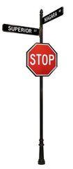 STREET SIGNS-(31) DBL STREET 30X30 STOP
