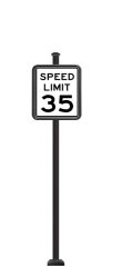 STREET SIGNS-(SQ) 24X30 SPEED LIMIT