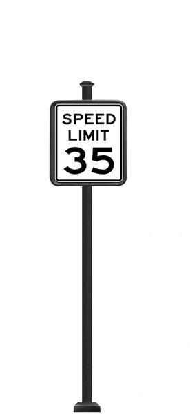 STREET SIGNS-(SQ) 24X30 SPEED LIMIT