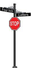 STREET SIGNS-(SQ) FLORA DBL STREET 30 X30 STOP