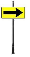 STREET SIGNS-48x24 Eng Refl Arrow BKY