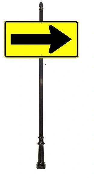 STREET SIGNS-48x24 Eng Refl Arrow BKY