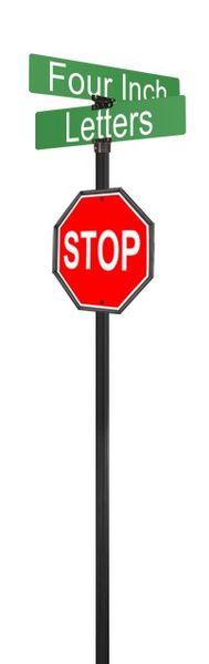 STREET SIGNS-STOP DBL STREET