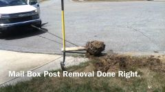 Removal of old mailbox system