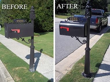 Mailbox Refurbish includes flag, numbers and paint.