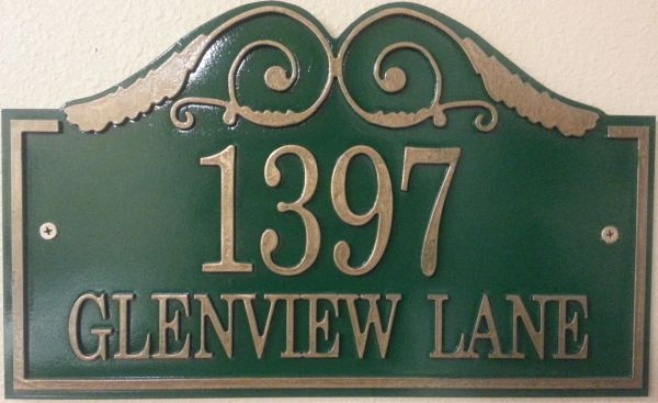 Address Plaque 10 X 16 GLENVIEW