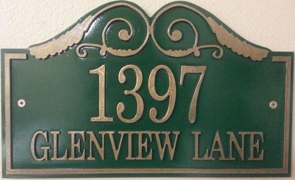 Address Plaque 10 X 16 GLENVIEW