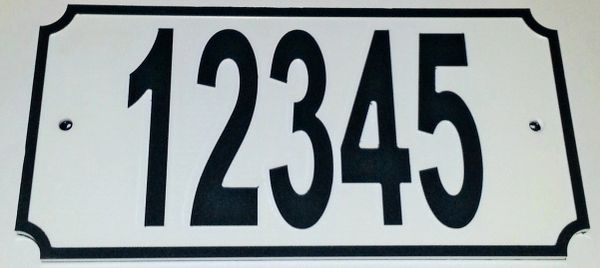 Address Plaque COLOR CORE BLACK ON WHITE