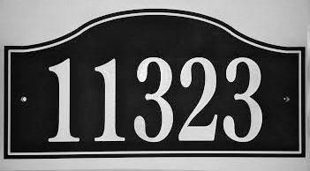 Address Plaque COLOR CORE PALENCIA