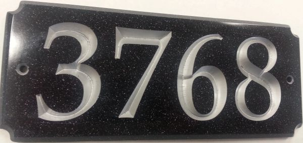Address Plaque 4X10 CORIAN RECTANGLE