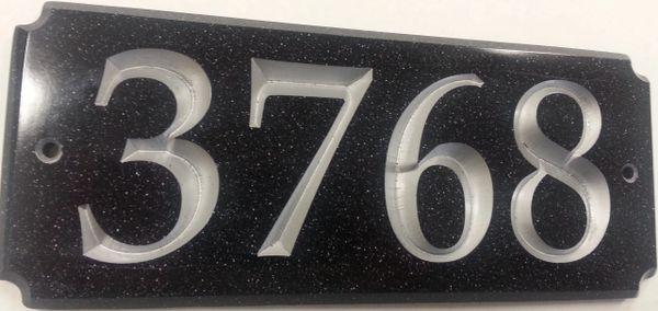 Address Plaque 4X10 CORIAN RECTANGLE