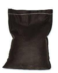 Filled Filter Fabric Bag - 8oz #5 Rock, Dumped