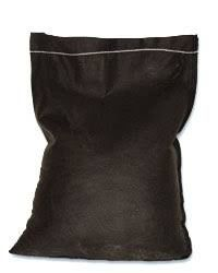 Filled Filter Fabric Bag - 8oz #3 Rock, Dumped