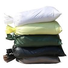 Filled Poly Gravel Bags (2000 HR/UV) - #5 Rock, Dumped