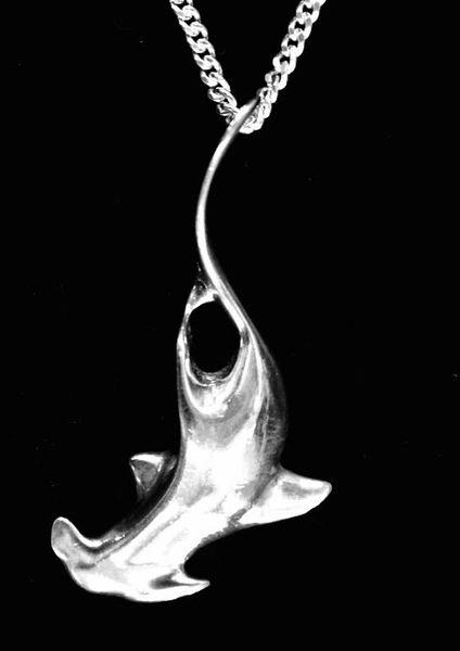 Hammer Head Shark Sterling Silver Pendant
